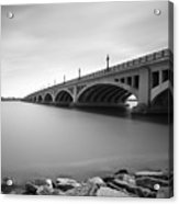 Macarthur Bridge To Belle Isle Detroit Michigan Acrylic Print by Gordon Dean II