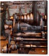 Machinist - Steampunk - 5 Speed Semi Automatic Acrylic Print by Mike Savad