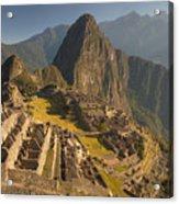Machu Picchu At Dawn Near Cuzco Peru Acrylic Print by Colin Monteath