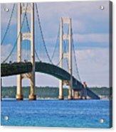 Mackinac Bridge Acrylic Print by Michael Peychich