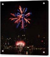 Macy's Fireworks II Acrylic Print by David Hahn