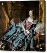 Madame De Pompadour Acrylic Print by Francois Boucher