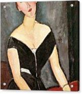 Madame G Van Muyden Acrylic Print by Amedeo Modigliani