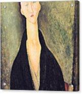 Madame Hanka Zborowska Acrylic Print by Amedeo Modigliani