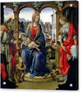Madonna And Child Acrylic Print by Filippino Lippi