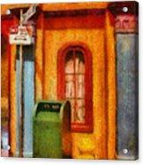 Mailman - No Parking Acrylic Print by Mike Savad