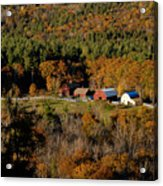 Maine Fall Colors Acrylic Print by Gary Cloud