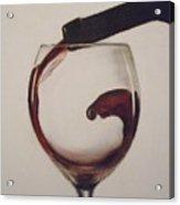 Make Mine A Red Wine Acrylic Print by Paul Horton