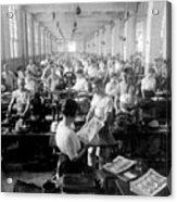 Making Money At The Bureau Of Printing And Engraving - Washington Dc - C 1916 Acrylic Print by International  Images