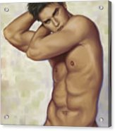 Male Nude 1 Acrylic Print by Simon Sturge