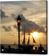 Mallory Square Key West Acrylic Print by Susanne Van Hulst