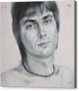 Man Acrylic Print by Sergey Ignatenko