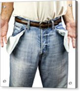 Man With Empty Pockets Acrylic Print by Blink Images