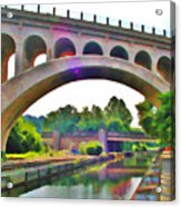 Manayunk Canal Acrylic Print by Bill Cannon