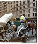 Manhattan Buggy Ride Acrylic Print by Madeline Ellis