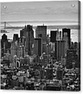 Manhattan Cityscape Acrylic Print by Andreas Freund