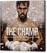 Manny Pacquiao-the Champ Acrylic Print by Ted Castor