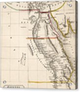 Map Of Aegyptus Antiqua Acrylic Print by Sydney Hall