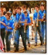 Marching Band - Junior Marching Band  Acrylic Print by Mike Savad
