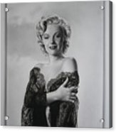 Marilyn In Lace Acrylic Print by Terry Stephens