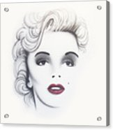 Marilyn Monroe Acrylic Print by Devaron Jeffery