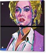 Marilyn Monroe Dyptich Acrylic Print by David Lloyd Glover