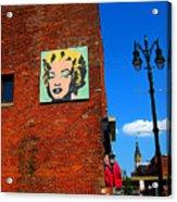 Marilyn Monroe In Detroit Acrylic Print by Guy Ricketts