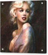 Marilyn Romantic Ww 1 Acrylic Print by Theo Danella