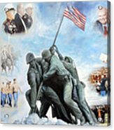 Marine Corps Art Academy Commemoration Oil Painting By Todd Krasovetz Acrylic Print by Todd Krasovetz