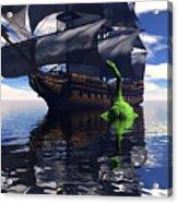 Mariner's Nightmare Acrylic Print by Claude McCoy