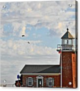 Mark Abbott Memorial Lighthouse  - Home Of The Santa Cruz Surfing Museum Ca Usa Acrylic Print by Christine Till