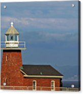 Mark Abbott Memorial Lighthouse California - The World's Oldest Surfing Museum Acrylic Print by Christine Till