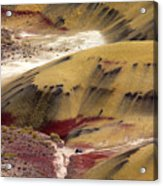 Marked Hills Acrylic Print by Mike  Dawson