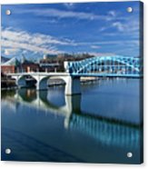 Market Street Bridge  Acrylic Print by Tom and Pat Cory
