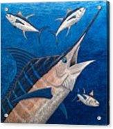 Marlin And Ahi Acrylic Print by Carol Lynne
