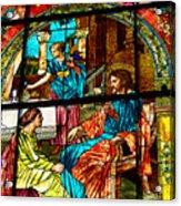 Martha And Mary Acrylic Print by Diane E Berry