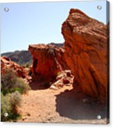 Martian Landscape Acrylic Print by Silvie Kendall