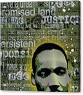 Martin Luther King Acrylic Print by Tai Taeoalii
