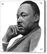 Martin Luther King Jr Acrylic Print by Charles Vogan