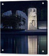 Martin Luther King Jr Memorial Overlooking The Tidal Basin - Washington Dc Acrylic Print by Brendan Reals