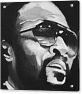 Marvin Gaye II Acrylic Print by Mikayla Ziegler
