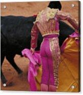 Matador And Bull Acrylic Print by Carl Purcell