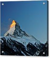 Matterhorn Switzerland Sunrise Acrylic Print by Maria Swärd