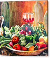 Mediterranean Table Acrylic Print by Karen Stark