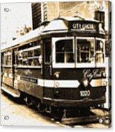 Melbourne Tram Acrylic Print by Darren Stein