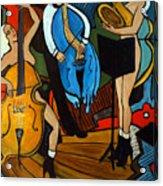 Melting Jazz Acrylic Print by Valerie Vescovi