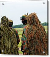 Members Of The Special Forces Group Acrylic Print by Luc De Jaeger