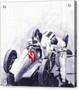 Mercedes Benz W125 Rudolf Caracciola The German Grand Prix Nurburgring 1937  Acrylic Print by Yuriy  Shevchuk