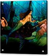 Mermaid Shipwreck  Acrylic Print by Tray Mead