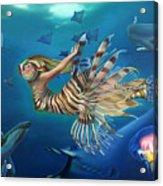 Mermalien Odyssey Acrylic Print by Patrick Anthony Pierson